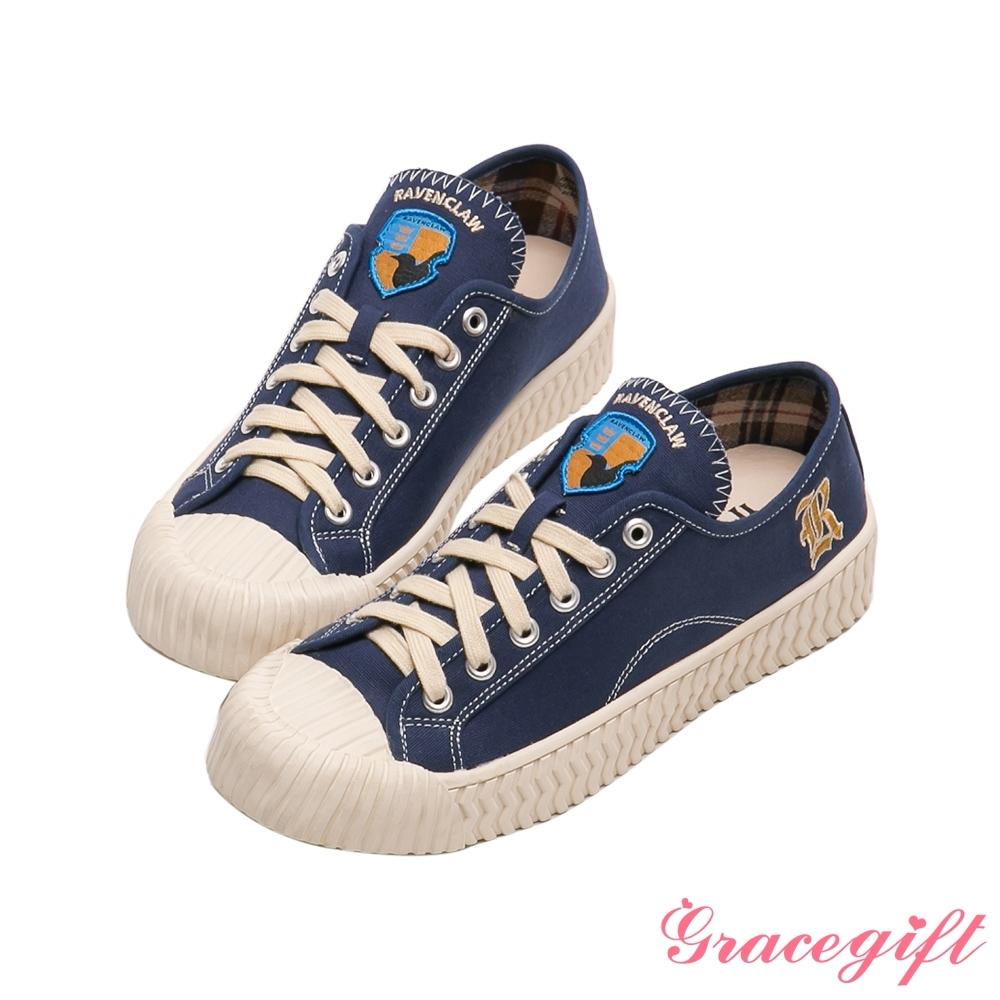 Grace gift-哈利波特雷文克勞學院帆布餅乾鞋 深藍