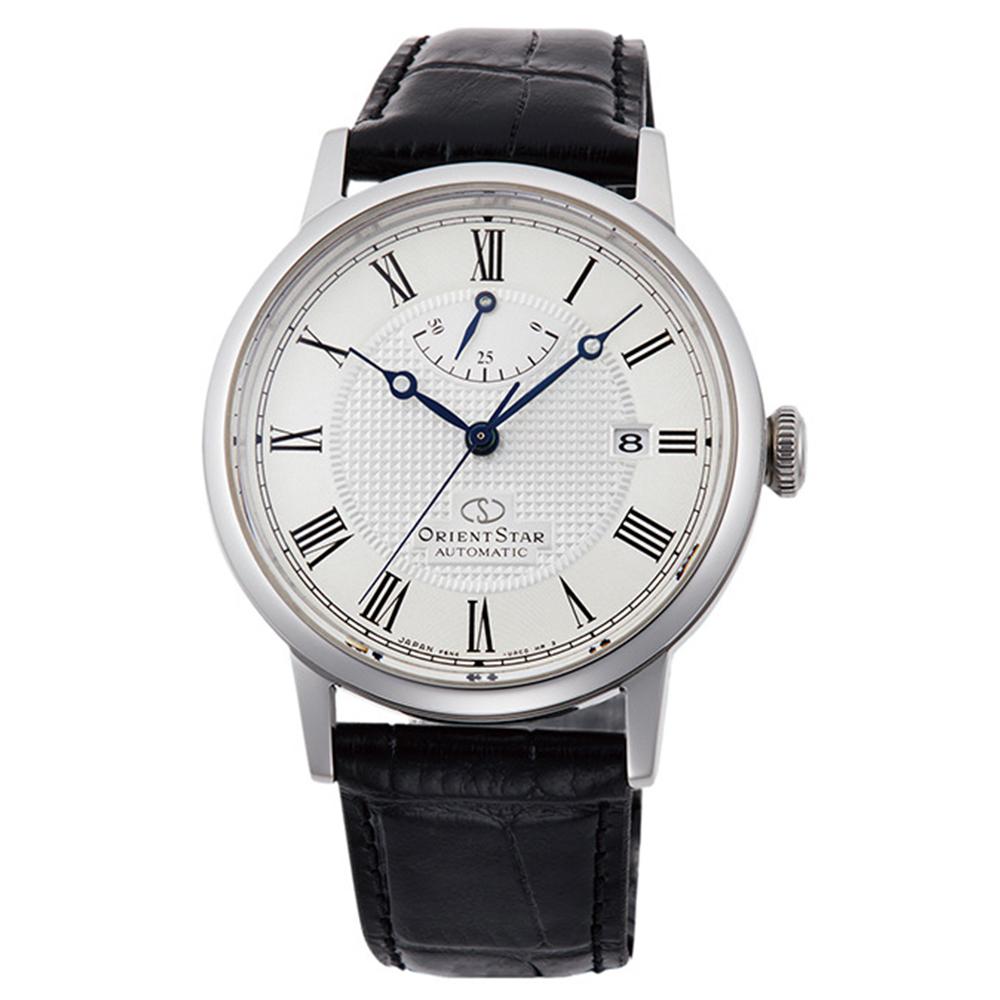 ORIENT  東方之星羅馬時標手動機械錶-銀框x38.6mm