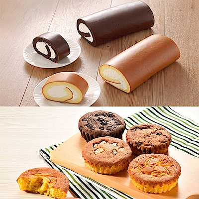 【亞尼克】經典生乳捲2入+日式蛋糕派1盒