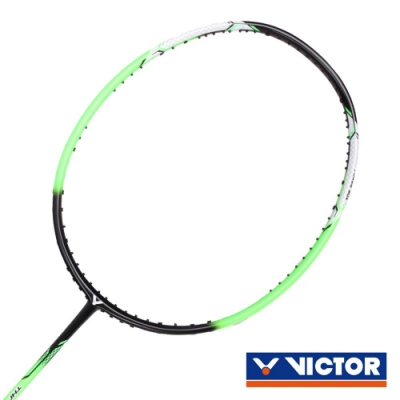 VICTOR 突擊球拍-4U 螢光綠黑白