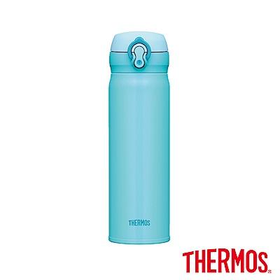 THERMOS 膳魔師超輕量不鏽鋼真空保溫瓶<b>0</b>.5L(JNL-502)-SKY天空藍