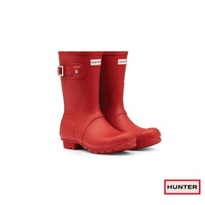 HUNTER - 女鞋 - Original霧面短靴 - 紅