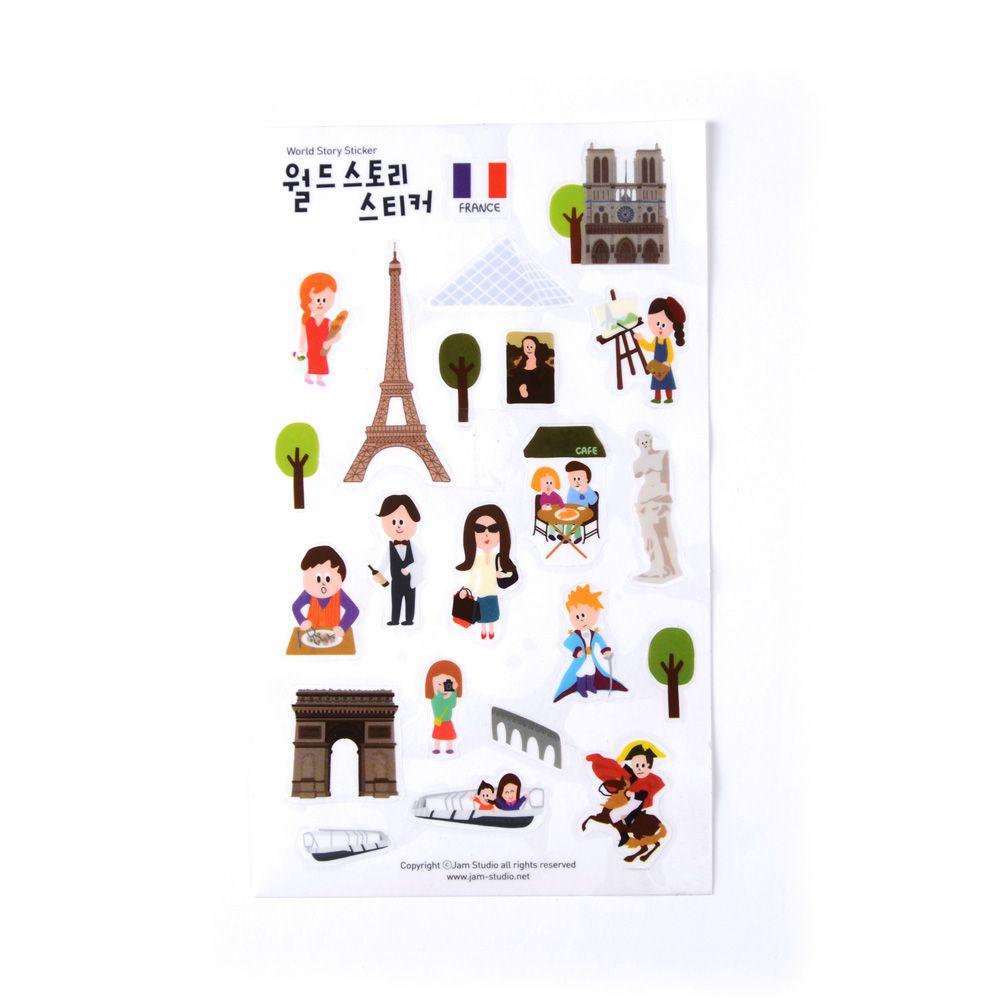 Jamstudio 世界地標旅遊貼紙-05 法國