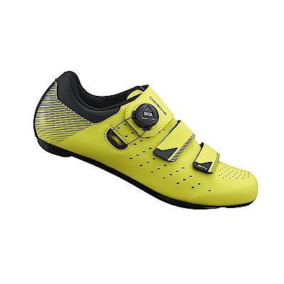 【SHIMANO】RP400 男性公路車性能型車鞋 寬楦 螢光黃色