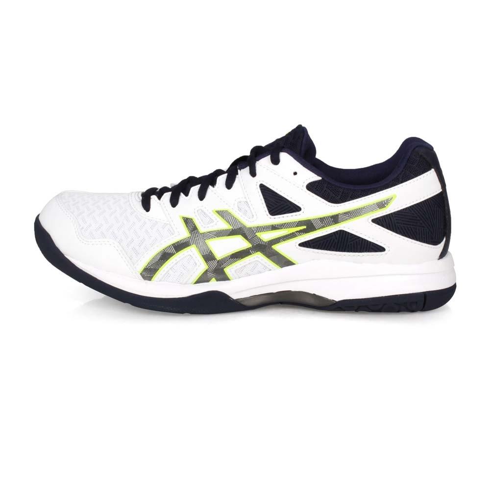 ASICS 男 排羽球鞋 GEL-TASK 2 白丈青綠