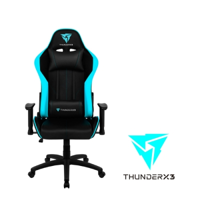 【ThunderX3】JC5 競速超跑電競賽車椅(黑藍色)