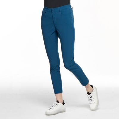 【HAKERS 哈克士】女 strong defense彈性快乾抗UV九分褲(陶瓷藍)