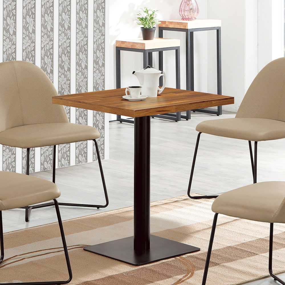 H&D 角川2尺木面四方餐桌