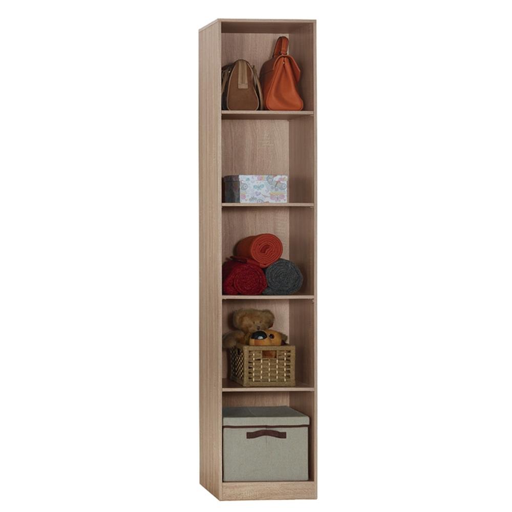 【AT HOME】日式簡約1.3尺淺灰橡木紋開放隔板衣櫃/收納櫃(凱文)