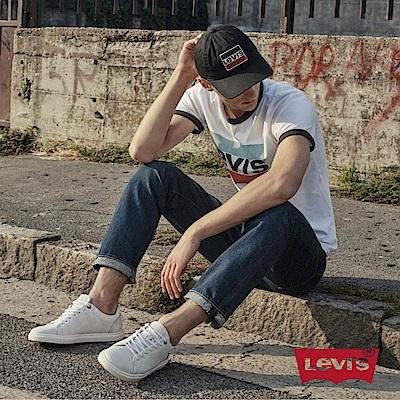 Levis 男款 511 低腰修身窄管牛仔長褲 深藍刷白