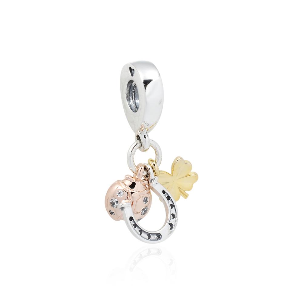 Pandora 潘朵拉 魅力幸運三重奏 垂墜純銀墜飾