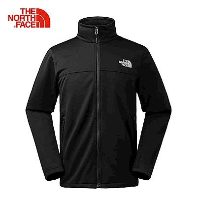 The North Face北面男款黑色輕量防潑水軟殼外套|366JKX7