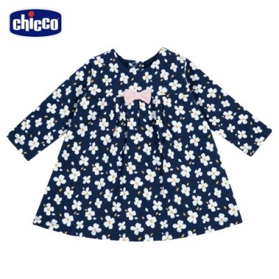 chicco- TO BE Baby-G-碎花長袖洋裝-藍