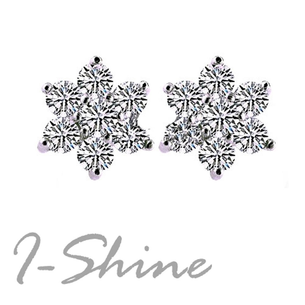 I-Shine-雪花紛飛-閃耀晶鑽耳針AH03