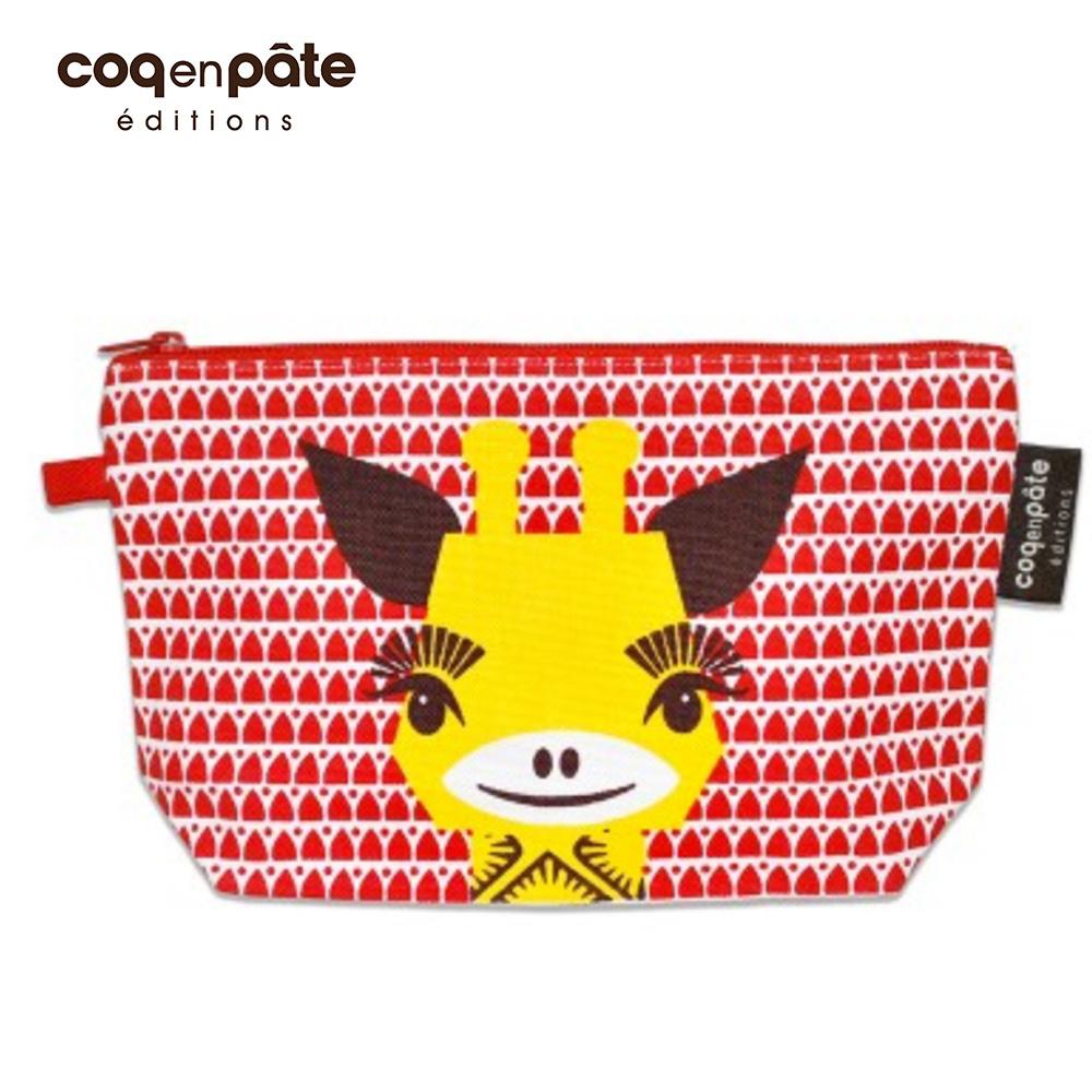 【COQENPATE】法國有機棉無毒環保布包 / 大大水堅包 - 長頸鹿