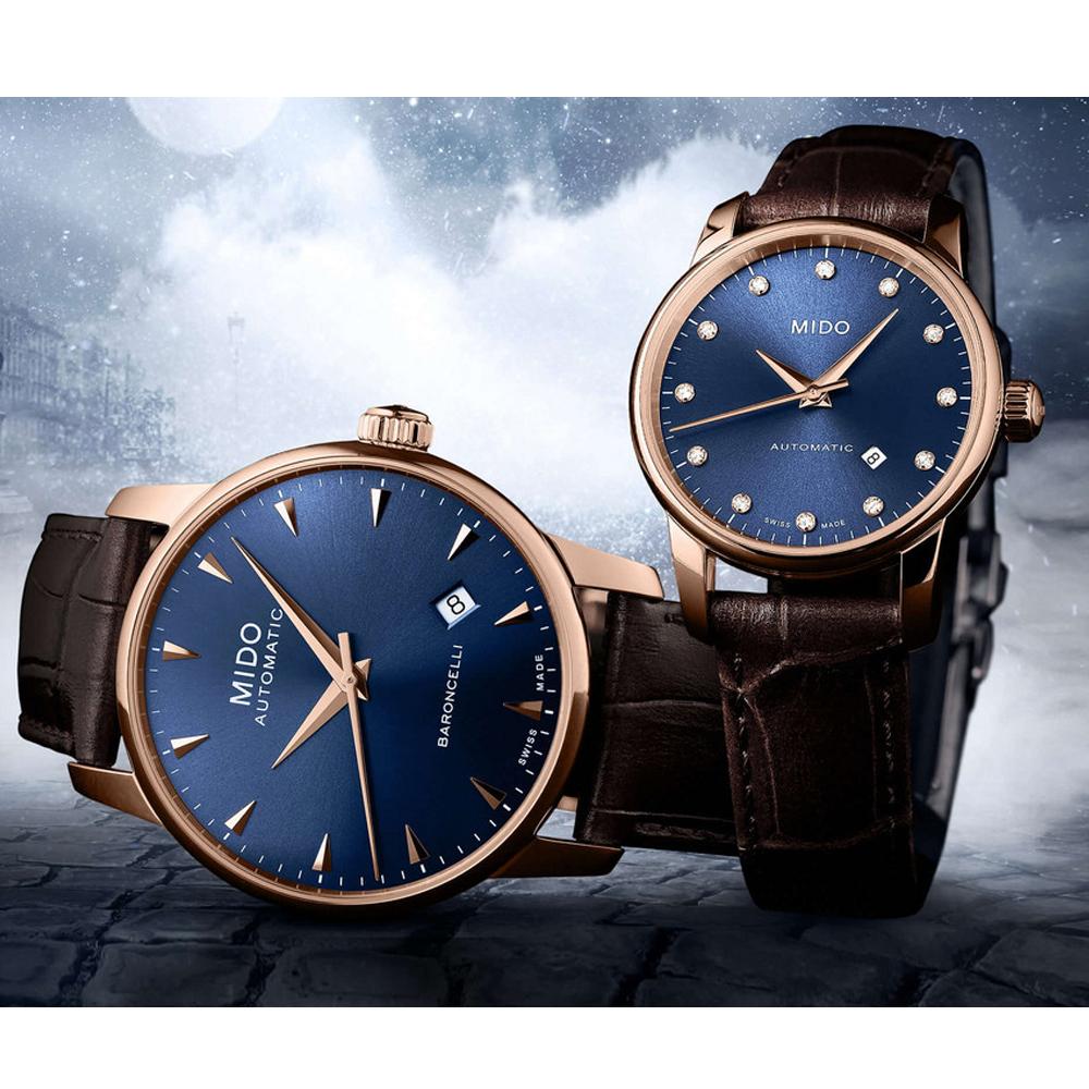 MIDO美度永恆系列午夜藍機械對錶(M76003658-M86003158)