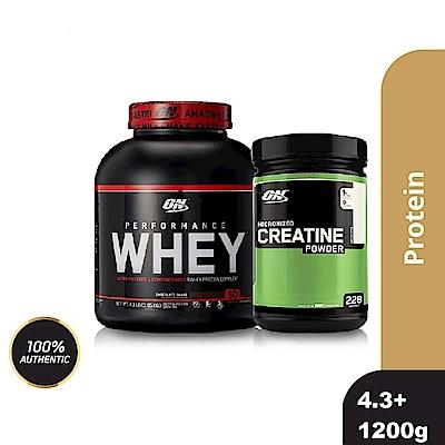[美國 ON]Performance濃縮乳清蛋白(4.3磅)+肌酸1200公克