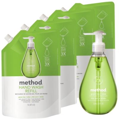 Method 美則綠茶蘆薈洗手乳1+4件(特惠組)