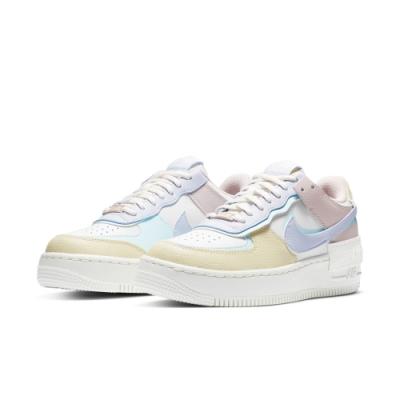 NIKE 休閒鞋 厚底 皮革 舒適 運動鞋 女鞋 白粉彩 CI0919106 AF1 SHADOW