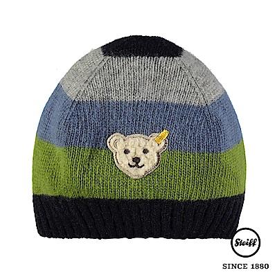 STEIFF德國精品童裝 條紋熊熊羊毛針織毛帽