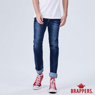 BRAPPERS 男款 HM-中腰系列-彈性直筒褲-藍