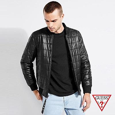 GUESS-男裝-經典雙面羽絨外套-黑 原價4990