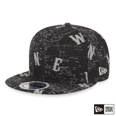 NEW ERA 9FIFTY 950 反光地圖帽 黑 棒球帽