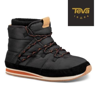 【TEVA】原廠貨 男 Ember Lace 防潑水麵包中筒靴/雪靴(黑色-TV1094235BLK)