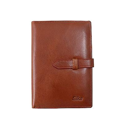 Sika義大利時尚牛皮護照夾-A8218-01原味褐