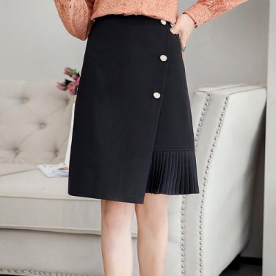 設計所在Lady-百褶雪紡優雅包臀裙(二色M-2XL可選)