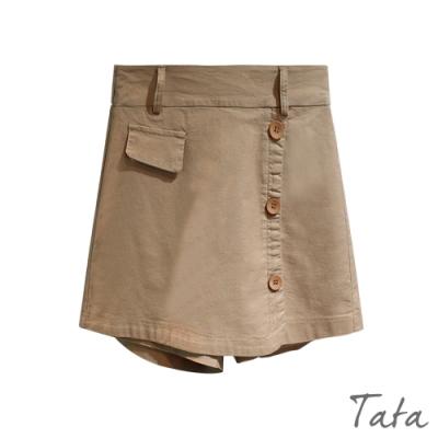 裝飾釦假兩件褲裙 共二色 TATA-(S~L)
