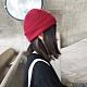 Redberry 秋冬圓頂卷邊針織帽 素色毛線帽 尖尖帽 保暖 5色系