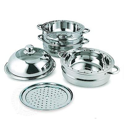 派樂久而久蒸好用304不銹鋼萬用料理鍋/加高蒸籠(1組送萬用大蒸盤)分離式蒸鍋
