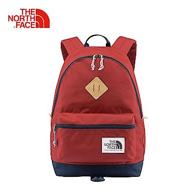The North Face北面款紅色輕便戶外雙肩背包