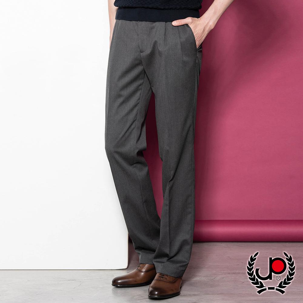極品西服簡約透氣直條打褶西褲_灰(BS805-2)