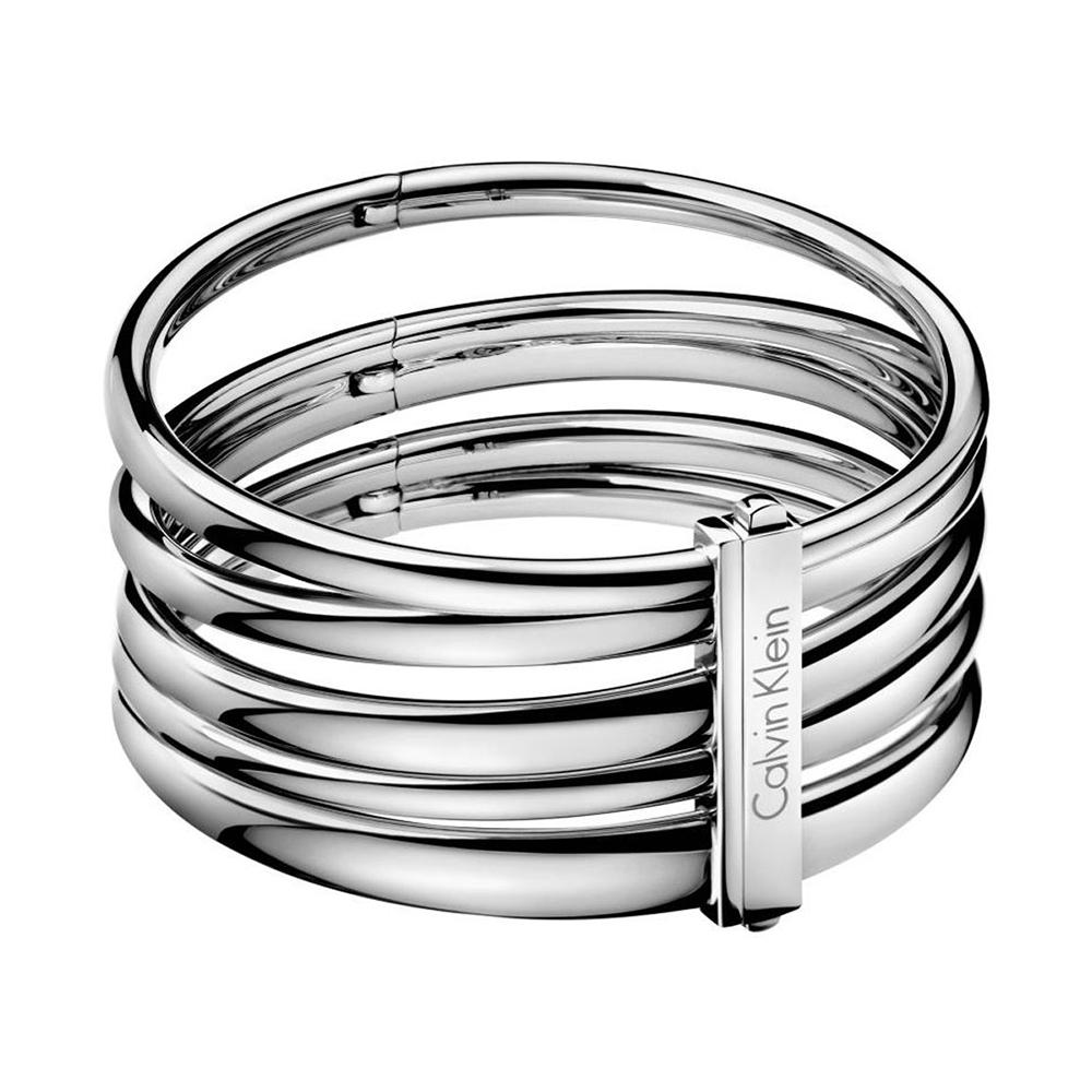 CALVIN KLEIN Sumptuous系列時尚銀手環-S
