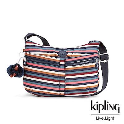 KIPLING繽紛仲夏條紋手提肩背包
