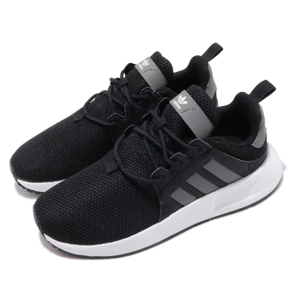 adidas 休閒鞋 X_PLR C 運動 低筒 童鞋 愛迪達 輕量 透氣 舒適 中童 親子鞋 黑 白 CG6830