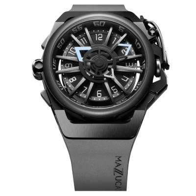 MAZZUCATO 義式美學鷗翼式翻轉機械石英雙面手錶(RIM03-GY536)