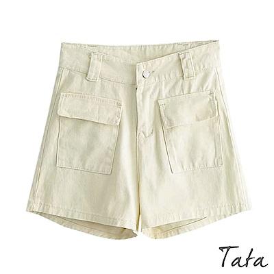 素色工裝牛仔短褲 共二色 TATA