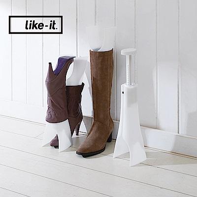【日本like-it】可調式長筒馬靴收納支架 (2入組)
