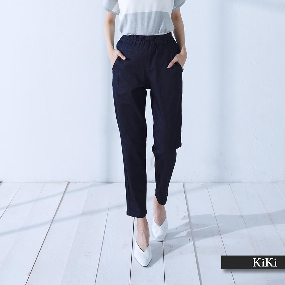 【KiKi】上班族素色顯瘦-長褲(二色)