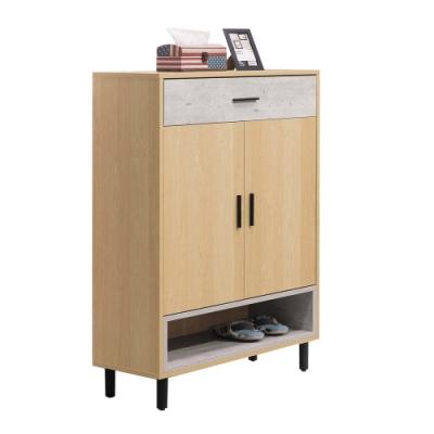 文創集 哈根現代2.7尺二門單抽鞋櫃/玄關櫃-80x36x118cm免組