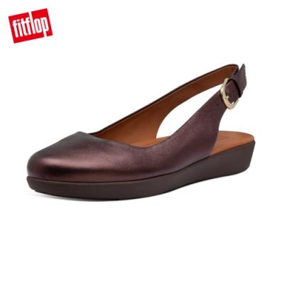 【FitFlop】SARITA 可調式後帶裸跟鞋-女(金屬巧克力色)