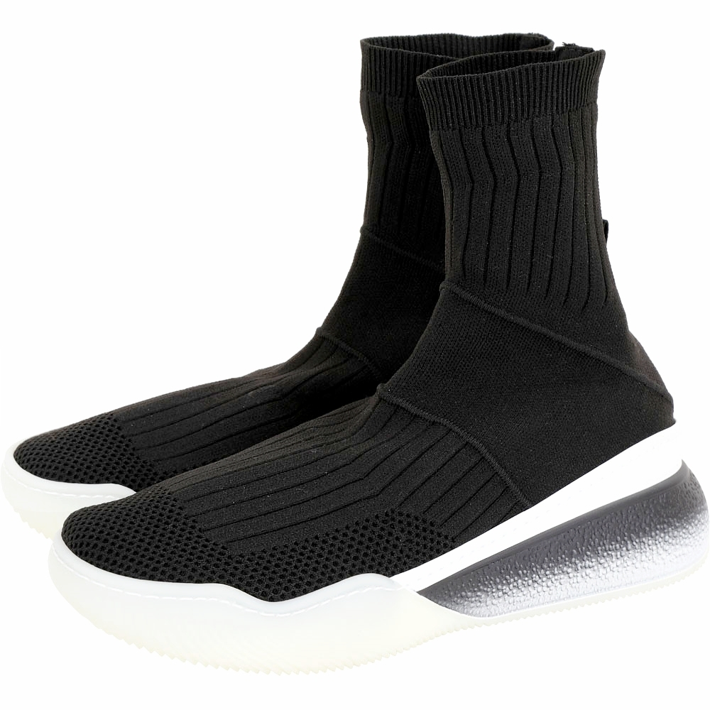 Stella McCartney Loop 彈性針織面料襪套運動鞋(女款/黑色)