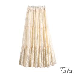 緹花蕾絲紗裙 共三色 TATA-F