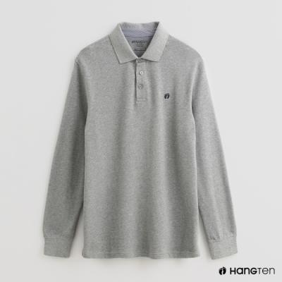 Hang Ten - 男裝 - 經典素色POLO衫 - 灰