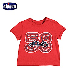 chicco-To Be Baby-短袖上衣-紅