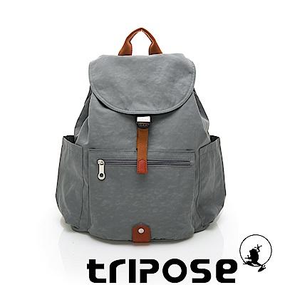 tripose MEMENTO系列微皺尼龍經典輕量後背包(大) 優雅灰