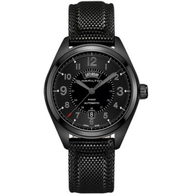 Hamilton漢米爾頓卡其野戰系列特務黑機械錶(H70695735)